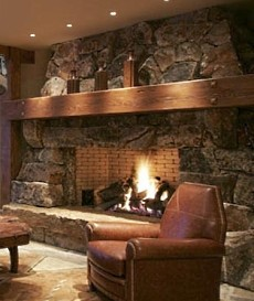 Stone Fireplace Hearth Ideas . . . Outstanding Custom Designs!