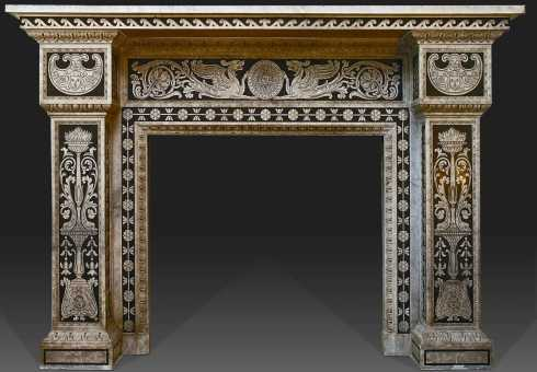 fireplace mantel designs - Regal Fireplace Mantel Designs - Fit For A King . . . OR A Queen!