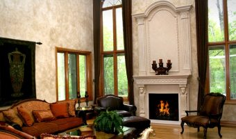 fireplace mantel