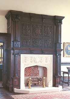 fireplace mantels wood
