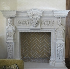 fireplace mantle stone
