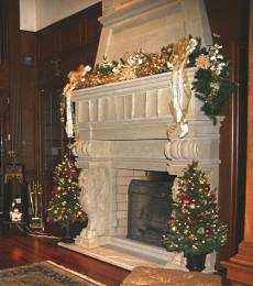 fireplace mantles stone