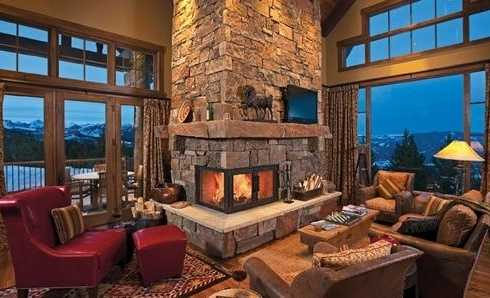 Fireplace Stone IdeasRugged And RusticYet Refined