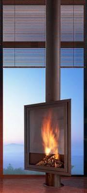 freestanding fireplace