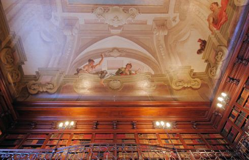 library ceiling painting