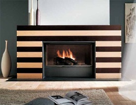 marvels of modern fireplace design . . . exotic and stylish!