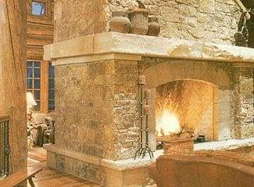 Natural Stone For Fireplace natural stone fireplace design . . . steeped in tradition!