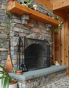 Natural Stone For Fireplace natural stone for fireplace - home design