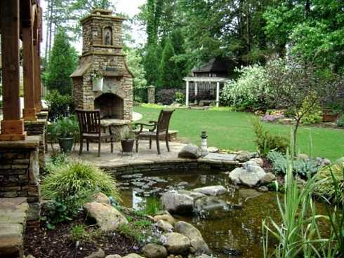 outdoor fireplace design