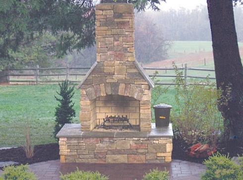 Outdoor Fireplace Kits Marvels In Modular Masonry