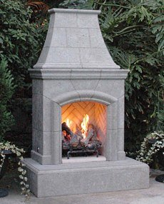 Outdoor gas fireplaces hot choices Pre fab outdoor fireplace