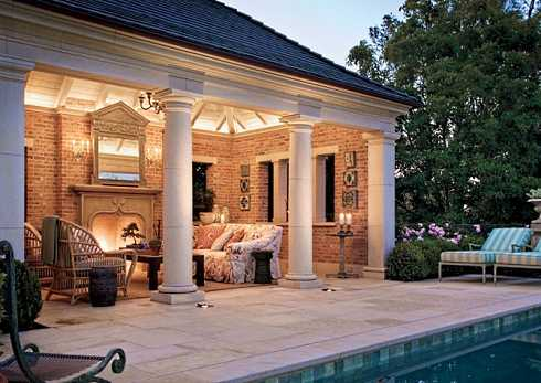 outdoor patio designs with fireplace