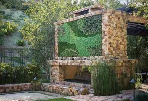 outdoor patio fireplace