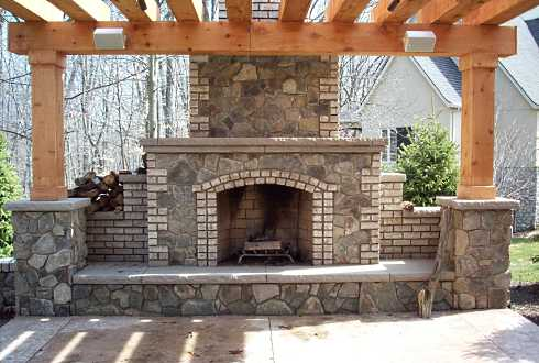 Beautiful Stone Outdoor Fireplaces, Rustic Outdoor Stone