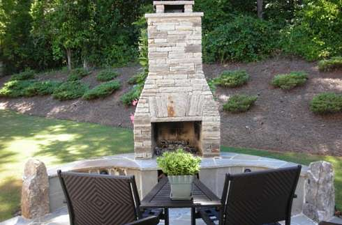 patio fireplace designs
