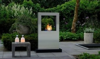 Contemporary Patio Fireplace Designs . . . Steel-ing The Spotlight!