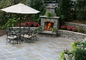 Outdoor Fireplace And Patio Pictures...Great Styles And Materi'ALS!