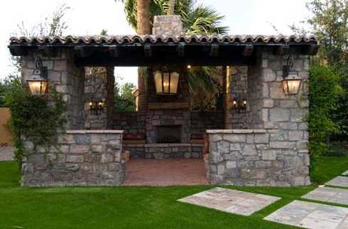 Patio roof designs for outdoor fireplaces an exciting for Outdoor kitchen roof structures