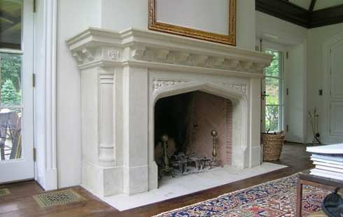 photos of stone fireplaces