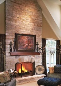 picture of cultured stone fireplace options rh standout fireplace designs com Natural Stone Fireplaces Stacked Stone Fireplace