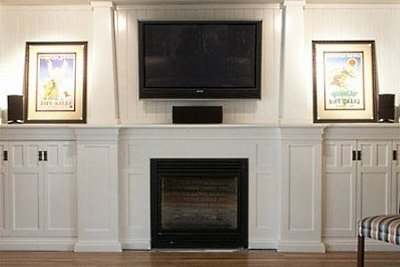 fireplace design ideas with tv above unique wall mount