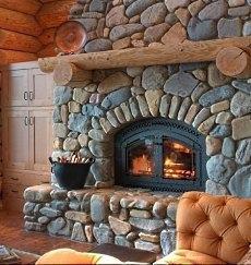 elegant & cozy fireplace