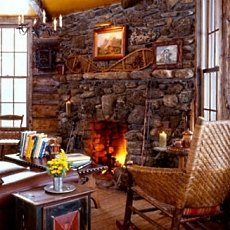 rock fireplace designs