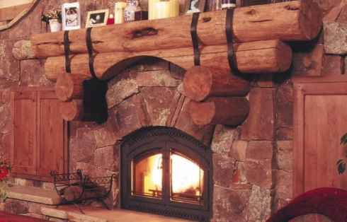 Rustic rock fireplace designs the spirit of the old for Rustic rock fireplace designs