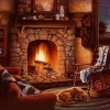rock fireplaces