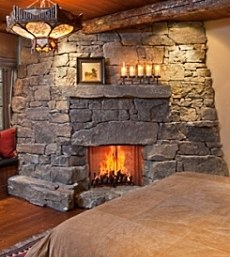 Rustic Stone Fireplace Enchanting Standout Rustic Stone Fireplaces Rugged & Revered Decorating Inspiration