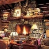 rustic stone fireplaces