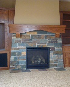 The Slate Fireplace . . . A Clean Slate For YOUR Special Fire Space!