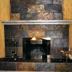 A slate stone fireplace is remarkably versatile and can be made to look right at home in virtually any style or setting!