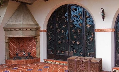 spanish style fireplace