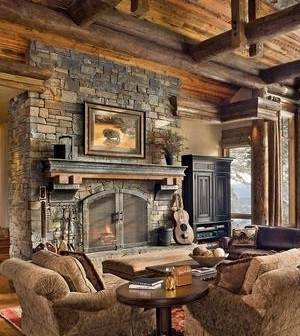 Stacked stone fireplace mantel ideas - Stacked stone fireplace designs ...