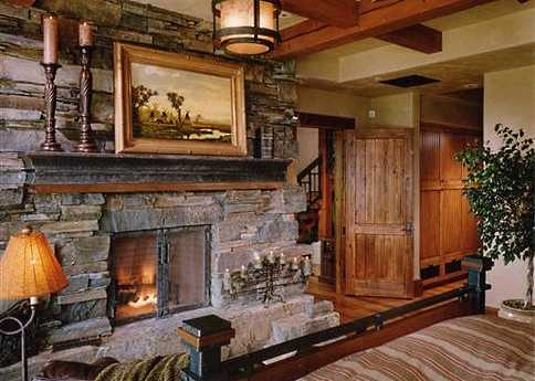 stacked stone fireplace pictures - Stone Fireplace Design Ideas