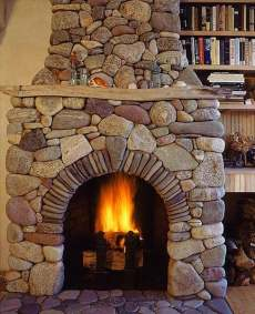 The Stacked Stone Fireplace . . . Stacked In Your Favor!
