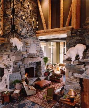 Standout Stacked Stone Fireplace Designs