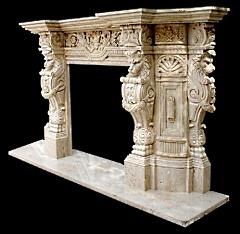 stone fireplace design