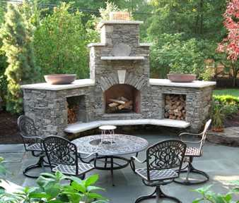 Stone Outdoor Fireplace Pictures