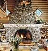 natural stone fireplace design