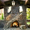 stone outdoor fireplaces