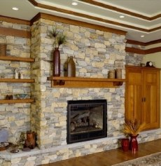 The beautiful fireplace hearth designs featured here are crafted from stones in a spectrum of colors as rich and vibrant as the canvas of a fine painting!