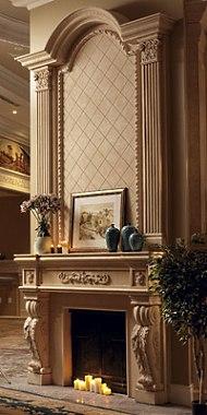 stone fireplace photo