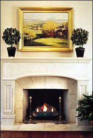stone fireplace photo
