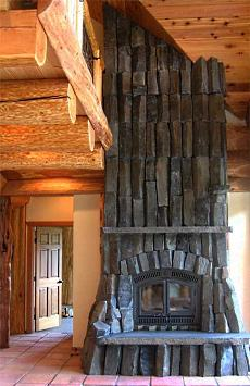 stone fireplace picture