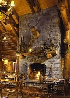 The Cozy Stone Fireplace Rest And Relax In A Rustic Setting