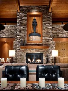 beautiful stone fireplaces Minimalistic Design