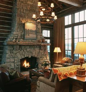 The stone fireplaces pictures featured here truly ARE STANDOUTS!  Far from the typical stone surround