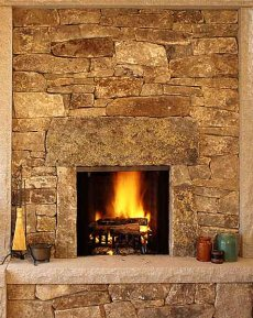Custom Stone Fireplaces Rock